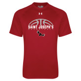 Under Armour Cardinal Tech Tee-Basketball Half Ball Design