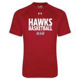 Under Armour Cardinal Tech Tee-Hawks Basketball Stacked