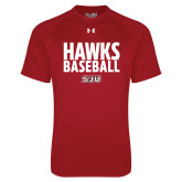 Under Armour Cardinal Tech Tee-Hawks Baseball Stacked