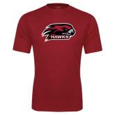 Performance Cardinal Tee-Hawk Head w/ Hawks