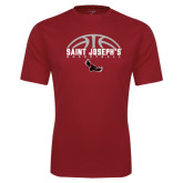 Performance Cardinal Tee-Basketball Half Ball Design