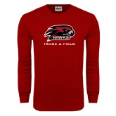 Cardinal Long Sleeve T Shirt-Track and Field
