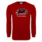 Cardinal Long Sleeve T Shirt-Lacrosse