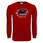 Cardinal Long Sleeve T Shirt-Rowing