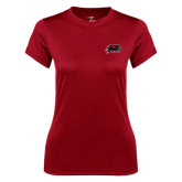 Ladies Syntrel Performance Cardinal Tee-Hawk Head w/ Hawks