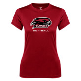 Ladies Syntrel Performance Cardinal Tee-Softball