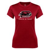 Ladies Syntrel Performance Cardinal Tee-Track and Field