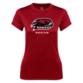 Ladies Syntrel Performance Cardinal Tee-Rowing