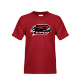 Youth Cardinal T Shirt-Hawk Head w/ Hawks