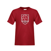 Youth Cardinal T Shirt-Soccer Shield Design