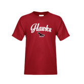 Youth Cardinal T Shirt-Scripted Hawks