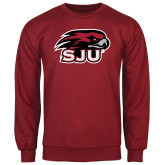 Cardinal Fleece Crew-Hawk Head w/ SUJ