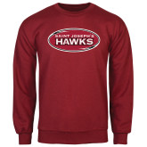 Cardinal Fleece Crew-Saint Josephs Hawks