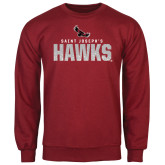 Cardinal Fleece Crew-Saint Josephs Hawks Splash