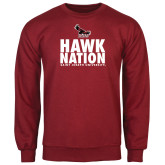 Cardinal Fleece Crew-Hawk Nation