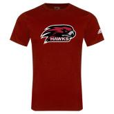 Adidas Cardinal Logo T Shirt-Hawk Head w/ Hawks