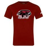Adidas Cardinal Logo T Shirt-Hawk Head w/ SJU