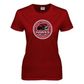 Ladies Cardinal T Shirt-Saint Josephs University Circle