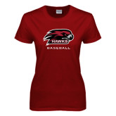 Ladies Cardinal T Shirt-Baseball