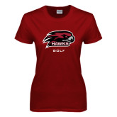 Ladies Cardinal T Shirt-Golf