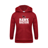Youth Cardinal Fleece Hoodie-Hawk Nation
