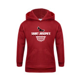 Youth Cardinal Fleece Hoodie-Basketball Sharp Net Design
