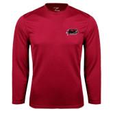 Syntrel Performance Cardinal Longsleeve Shirt-Hawk Head w/ Hawks