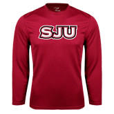 Syntrel Performance Cardinal Longsleeve Shirt-SJU