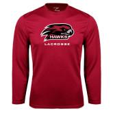 Performance Cardinal Longsleeve Shirt-Lacrosse