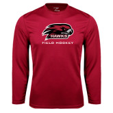 Performance Cardinal Longsleeve Shirt-Field Hockey