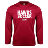 Syntrel Performance Cardinal Longsleeve Shirt-Hawks Soccer Stacked
