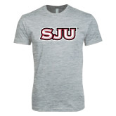 Next Level SoftStyle Heather Grey T Shirt-SJU
