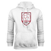 White Fleece Hood-Soccer Shield Design