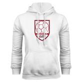 White Fleece Hoodie-Soccer Shield Design