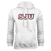 White Fleece Hood-SJU