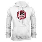 White Fleece Hoodie-Saint Josephs University Circle