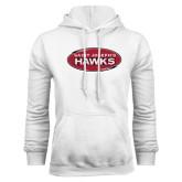 White Fleece Hoodie-Saint Josephs Hawks