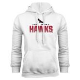 White Fleece Hoodie-Saint Josephs Hawks Splash