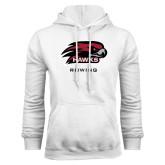 White Fleece Hoodie-Rowing