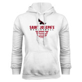 White Fleece Hood-Basketball Sharp Net Design