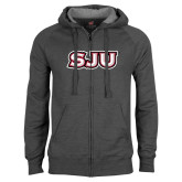 Charcoal Fleece Full Zip Hood-SJU