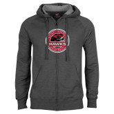 Charcoal Fleece Full Zip Hoodie-Saint Josephs University Circle