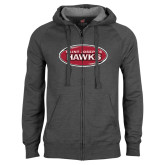 Charcoal Fleece Full Zip Hood-Saint Josephs Hawks