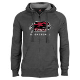 Charcoal Fleece Full Zip Hood-Basketball