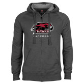 Charcoal Fleece Full Zip Hoodie-Lacrosse