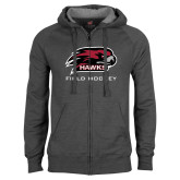 Charcoal Fleece Full Zip Hood-Field Hockey