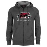 Charcoal Fleece Full Zip Hoodie-Field Hockey