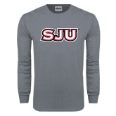 Charcoal Long Sleeve T Shirt-SJU
