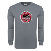 Charcoal Long Sleeve T Shirt-Saint Josephs University Circle