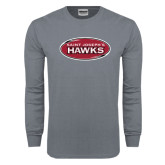 Charcoal Long Sleeve T Shirt-Saint Josephs Hawks